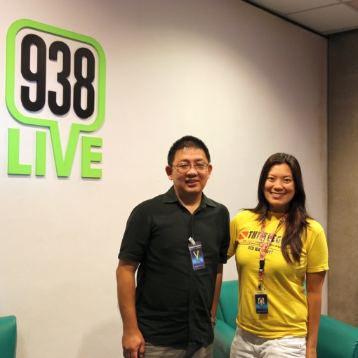 "With Daphne Lim on ""The Good Life"", 938 Live on Sunday 6 October 2013."