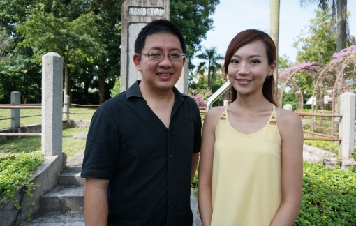 "Exploring a couple of ""Secret Singapore"" sites with Y.E.S. 93.3FM DJ Lim Peifen for Channel 5."