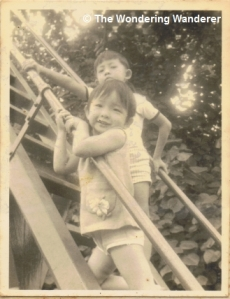 On the tall slide, Mata Ikan Nov 1971