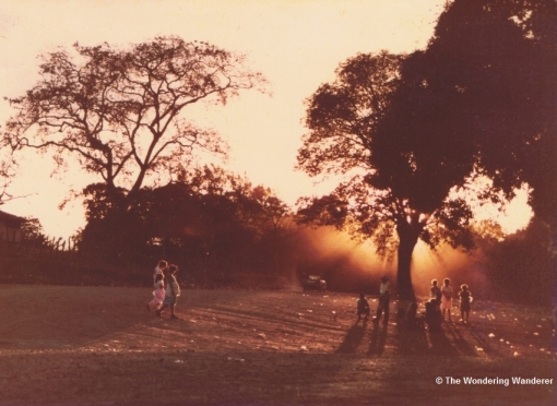 The Clearing that served as the Bus Station, Rivas, 23 Dec 1984.