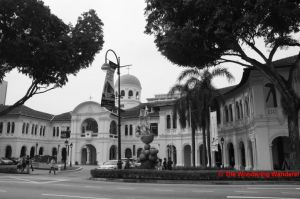 The former Saint Joseph's Institution Building along Bras Basah Road today, which now houses the Singapore Art Museum.