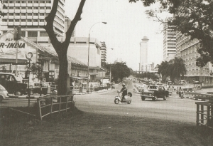 The Turbaned Maharaja at the corner of Orchard Road and Orange Grove Road in the 1970s