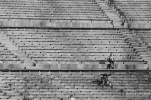 The Terraces of the National Stadium once held up to 70,000 spectators.