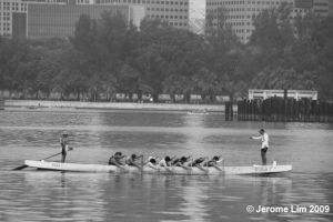 Dragon Boat practice in the Kallang Basin