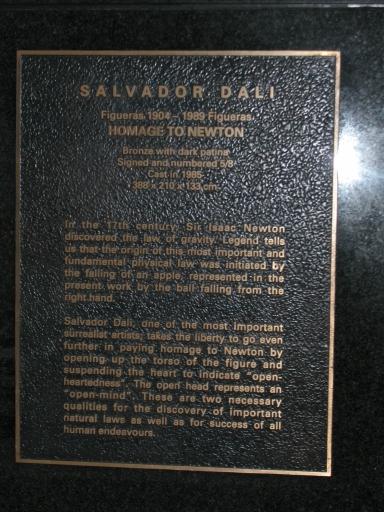 Information Plate - Homage to Newton (1985), UOB Plaza.