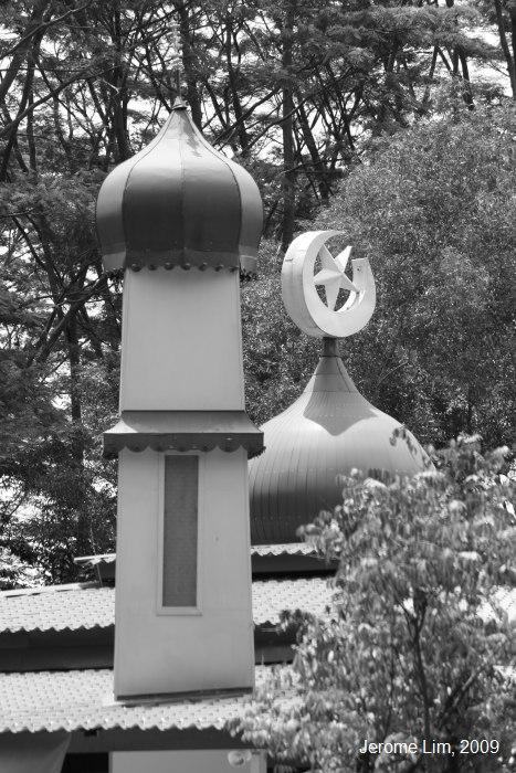 Minaret and Dome of the Masjid Petempatan Melayu.