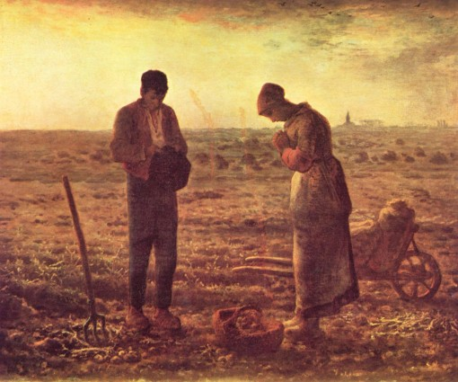 "Jean-François Millet's ""The Angelus"" (1857 - 1859), Musée d'Orsay, Paris. (Source: Wikipedia)."