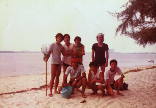 With a group of friends on Seletar Island (c. 1983)