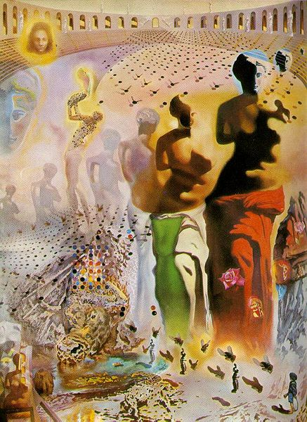 The Hallucinogenic Toreador (1969 - 1970), Salvador Dalí Museum, St. Petersburg, Florida. (Source: Wikipedia).