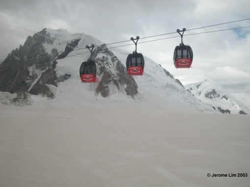 The Panoramic Mont-Blanc Gondola across the Glacier du Géant