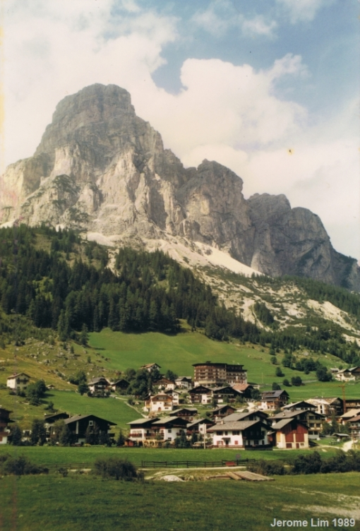 Corvara and Monte Sassongher in the Alta Badia Region of Italy