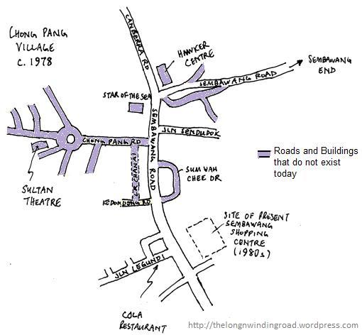 Map of Chong Pang Village c.1978