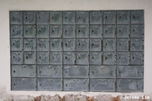 PO Boxes at the disused Post Office.