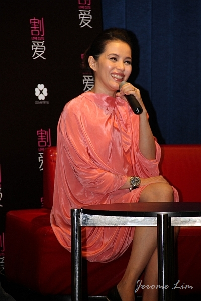 Zoe Tay, who was hand-picked for the role as Sissy, looked radiant throughout the one-hour session.