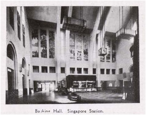 The main vaulted hall of the station in its early days. An impressive integration of public