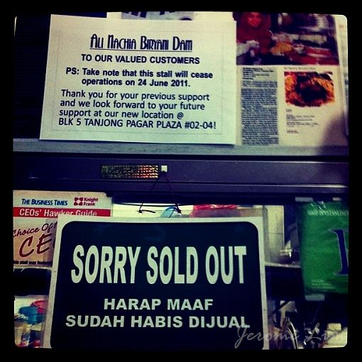 By 12.45 pm, the Briyani had been sold out, brining to an end a chapter for Ali Nacha at the Tanjong Pagar Railway Station.