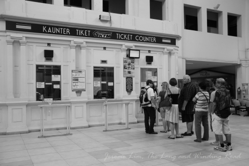 The ticket counter in quieter days - well before the madness of the last two months descended on the station.