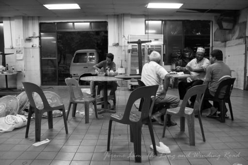A few former food stall operators having a last breakfast on 30 June 2011.