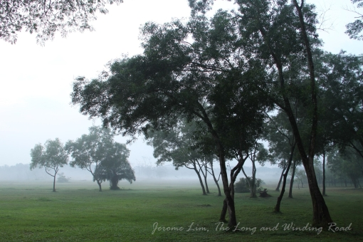 Another part of the same area seen on a misty morning on 28 August 2012.