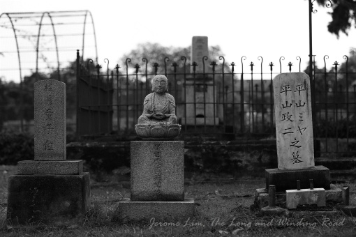 Headstones in the cemetery.