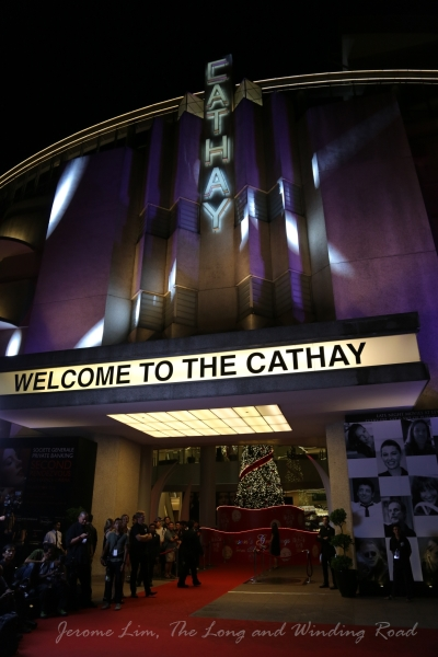 The red carpet laid in front of The Cathay for the opening.
