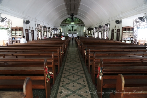 Inside Novena Church - the church is always packed on Saturdays during Novena services and a much bigger church is now needed.