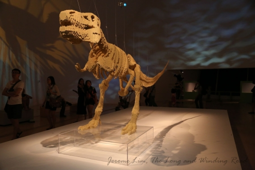 The six metre long T-Rex skeleton.