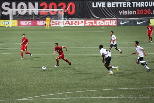 LionsXII launch an attack through skipper Shahril Ishak in the first half.