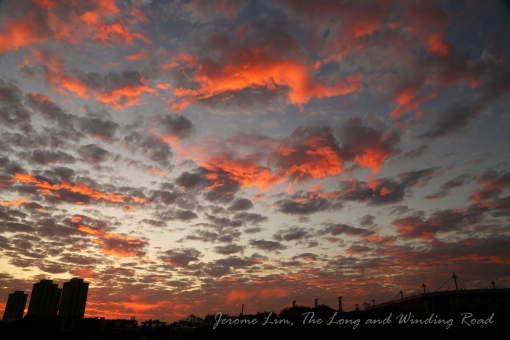 Colours of sunrise, 7.09 am.