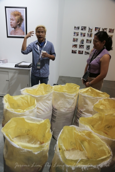 Maitree Siriboon and his sacks of rice.