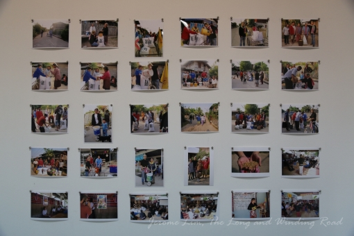 Photographs showing the support of the community for Siriboon's efforts.