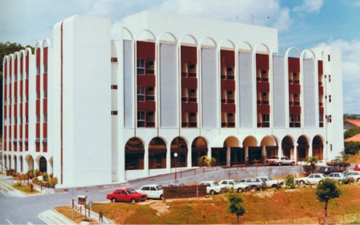 Thomson Medical Centre when it it opened in 1979. The bulk of it was built on the side which contained Adam Court.