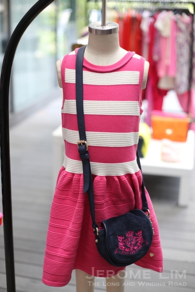 A cotton lycra dress from the kids' wear collection.