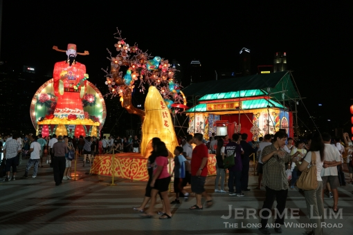 The lanterns will add light and colour to The Float over the nine days.