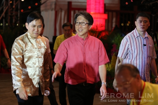 Minister for Prime Minister's Office Mr Lim Swee Say joining the countdown celebrations.