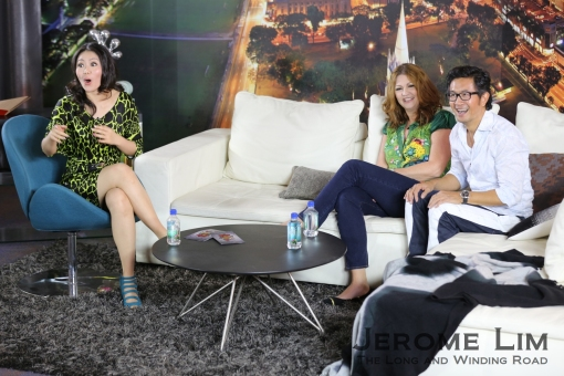 Tracie and Adrian Pang with host Judee Tan.