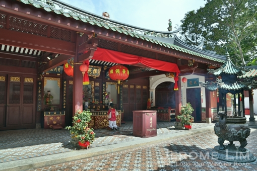 Part of the Thian Hock Keng Temple on Telok Ayer Street.