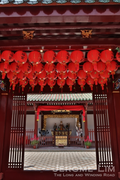 Lanterns for the Chinese New Year at the Thian Hock Keng.