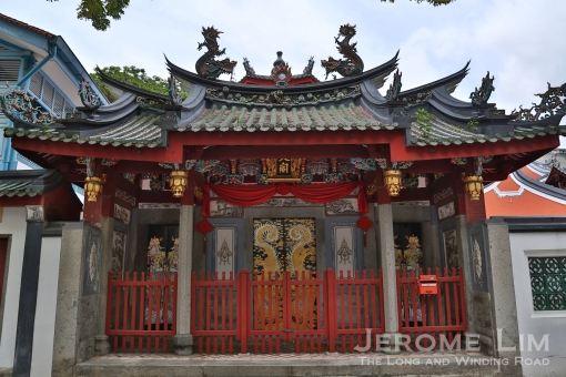 The entrance to the Chong Hock Pavilion and the Chung Wen Pagoda.