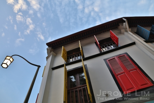 Non-organic business now occupy many of the conserved shophouses in the area today.