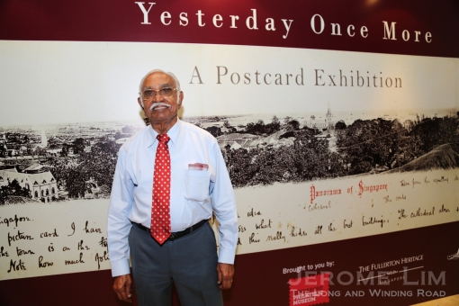 Singapore's first Postmaster General, Mr. Subramaniam who is in his 90s.
