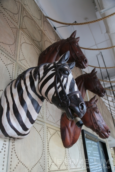 The restaurant's resident zebra,and some of its horses.