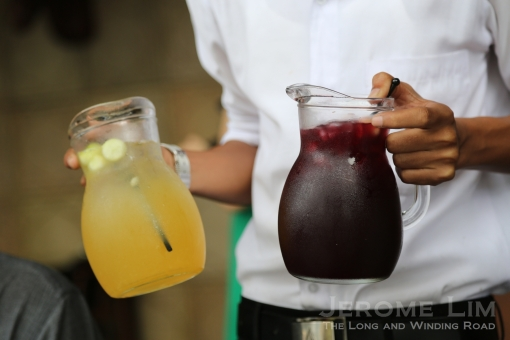 A generous dose of Sangria, from a choice of either white or red accompanied our brunch.