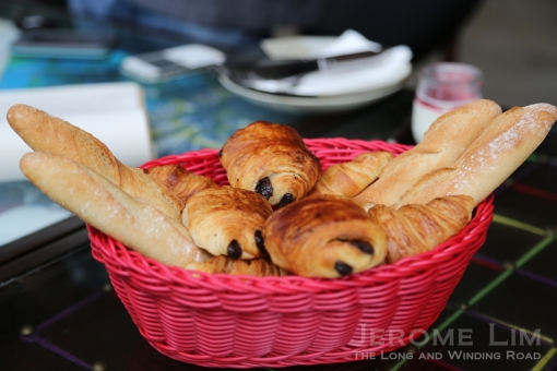 A wonderfully delicious bread basket to start off brunch.