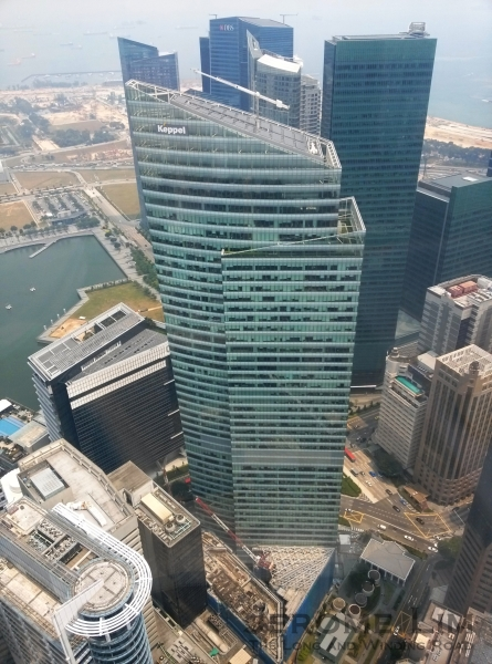 The rise of a new Ocean - the Ocean Financial Centre, the fourth Ocean Building on the site (photograph taken with LG Optimus G).