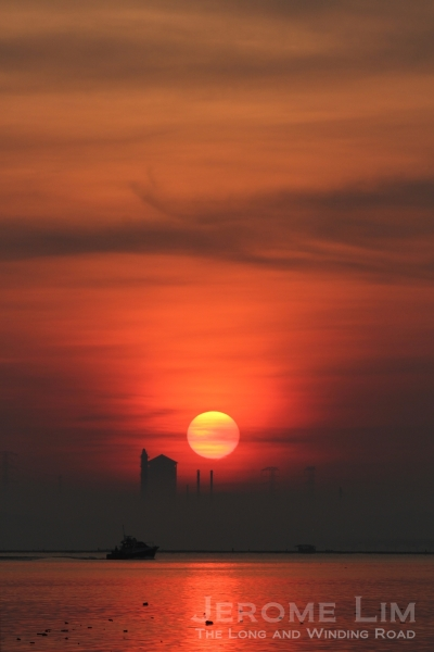 The rising sun, 7.14 am, 30 March 2013.