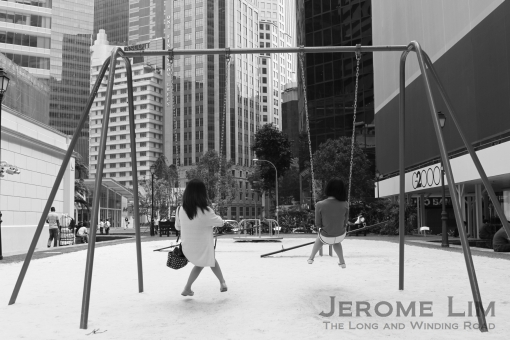 The temporary Playsets of Yesteryears at Raffles Place.