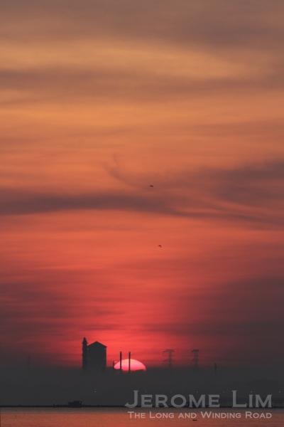 The rising sun, 7.11 am 30 March 2013.