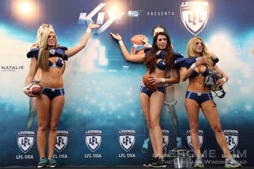 Three professional LFL players were in Singapore to promote the launch of the LFL on KIX.