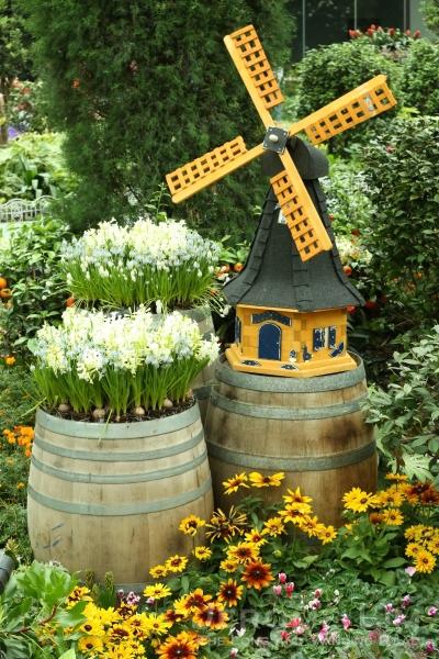 A miniature windmill.